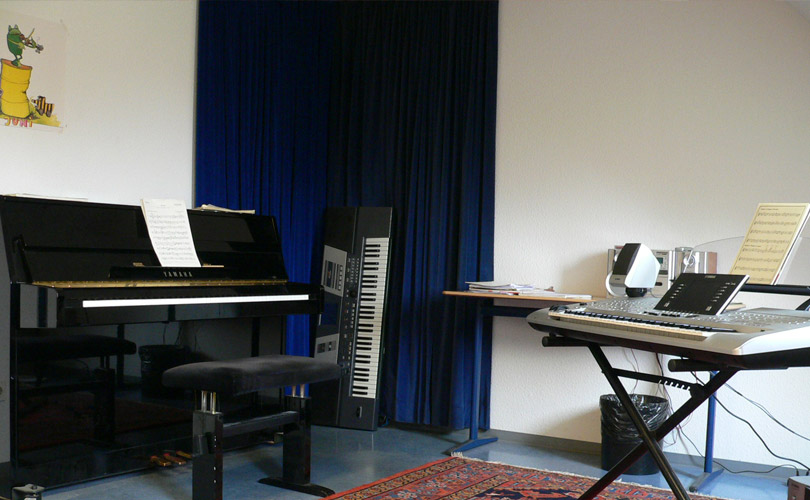 Unterrichtsraum Klavier / Keyboard